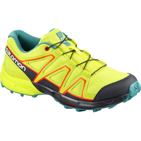 Salomon Junior Speedcross Shoes Acid Lime/Night Sky/Scarlet Ibis